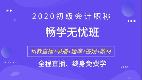 2020初级会计职称考试 - 畅学无忧班